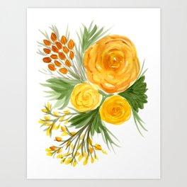 Harvest Floral Bouquet Art Print