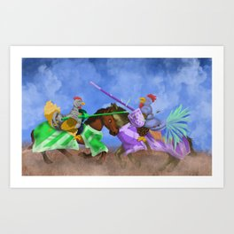 The Hen Always Wins Art Print