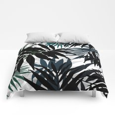 Shadow palm tree leaves Comforters