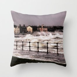 Ardrossan Storm  Throw Pillow