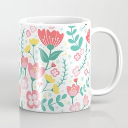 Flower Lovers - White Coffee Mug
