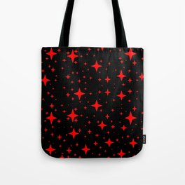 Bright Red Stars in Space , Cristmas Stars Tote Bag