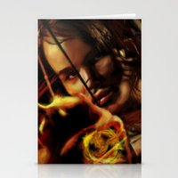 katniss Stationery Cards featuring Katniss by tgronberg