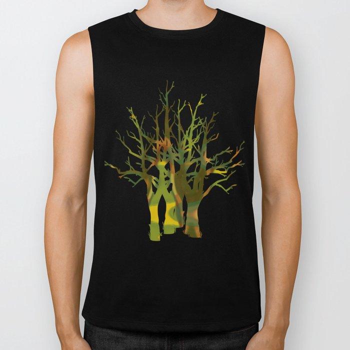 Tree Clusters Biker Tank