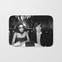 Mick and Bianca Jagger Poster Bath Mat