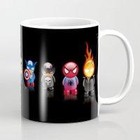 heroes Mugs featuring Heroes by Just Be Love