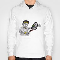 tennis Hoodies featuring Tennis Federer by Paul Nelson-Esch Art