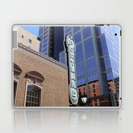 Vintage Portland Sign in the City Laptop & iPad Skin