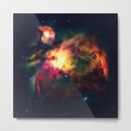 Orion NEbula Dark & Colorful : Hauntingly Beautiful Series Metal Print