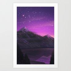Purple Night Art Print