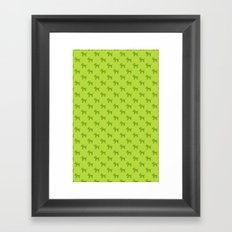 Dogs-Green Framed Art Print