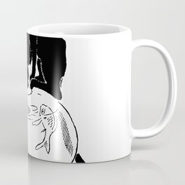"""Théophile Steinlen """"Cats: Pictures without Words (Cat and fishbowl)"""" (2) Coffee Mug"""