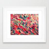nail polish Framed Art Prints featuring Nail Polish Painted by WayfarerPrints