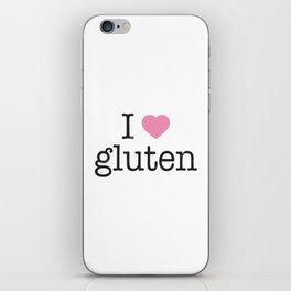 I Heart Gluten iPhone Skin