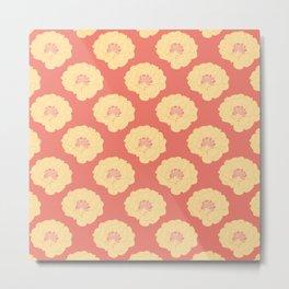 Yellow Portulaca Grandiflora Pattern Metal Print
