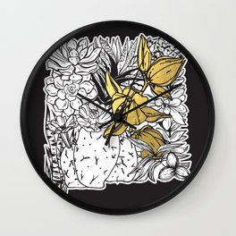 Flowers Of New Mexico Wall Clock