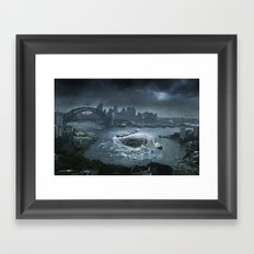The Big Swallow Framed Art Print