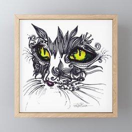 Intense Cat Framed Mini Art Print
