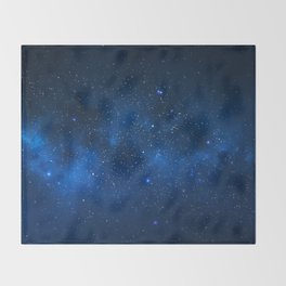 Nebula and Galaxy Throw Blanket
