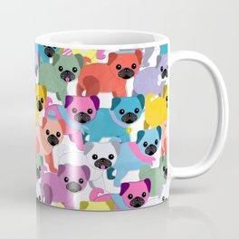 Colored Pugs Pattern - no1 Coffee Mug
