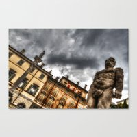 hercules Canvas Prints featuring Hercules' statue by Roberto Pagani