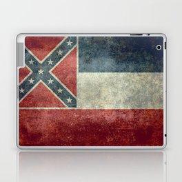 Mississippi Flag, Worn Retro Style Laptop & iPad Skin