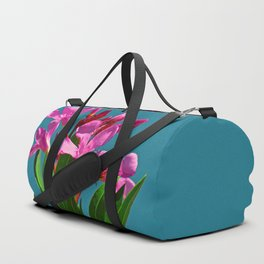 Pretty in pink under turquoise sky Duffle Bag