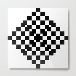 Abstract black squares pattern Metal Print