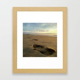 The First Step in Your Longest Journey Framed Art Print