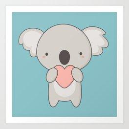 Kawaii Cute Koala Bear Art Print