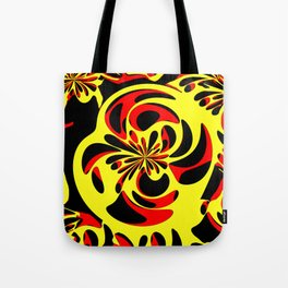 Yellow red and black Tote Bag