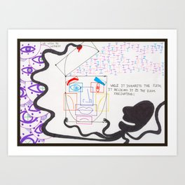 Ideation of Flesh - Bordered Art Print