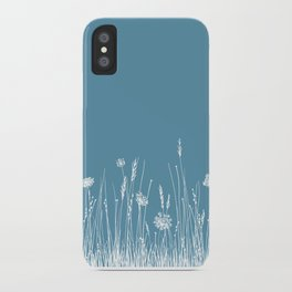 Blue Meadow up close iPhone Case