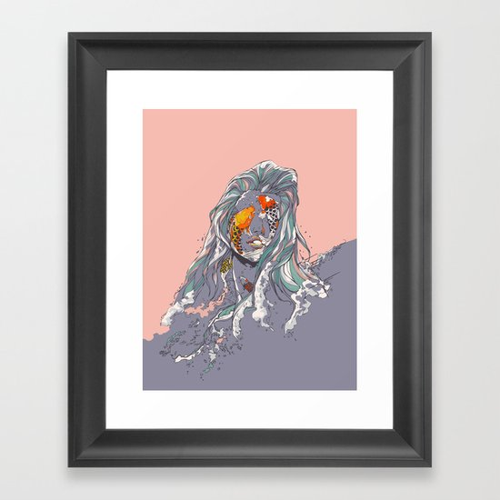 Koi and Raised Framed Art Print