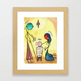 #cagsticks ''Nativity Scene 4'' Framed Art Print
