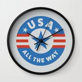 USA ALL THE WAY Wall Clock
