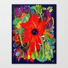 Beautiful flower art pattern decorative Canvas Print