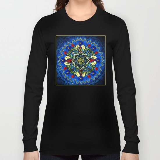 Lighted Rose Window Collage Long Sleeve T-shirt