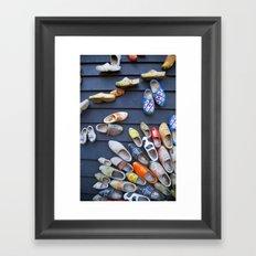 Wodden shoes Framed Art Print