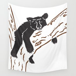 Black Bear Lounge Wall Tapestry