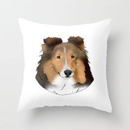 Tanner the Sheltie Throw Pillow