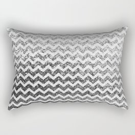 Glitter Sparkly Bling Chevron Pattern (silver) Rectangular Pillow
