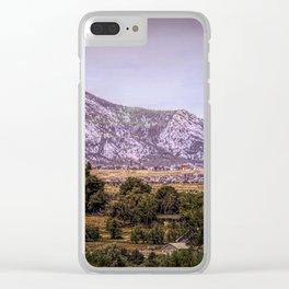 Mountains overlooking Colorado Springs, Colorado Clear iPhone Case