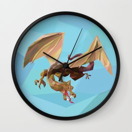 Against the Dragon Wall Clock
