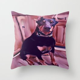 Neil D Pinscher Throw Pillow