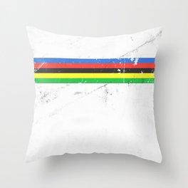 Jersey minimalist cycling Throw Pillow