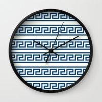 greek Wall Clocks featuring Greek II by Mr & Mrs Quirynen