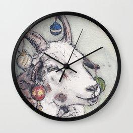 Yule Sheep Wall Clock