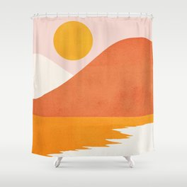 Abstraction_SEASIDE Shower Curtain