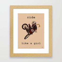 Ride Like a Girl Framed Art Print
